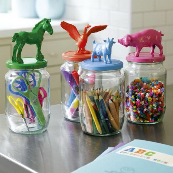 2 Cute Animal Storage Jars