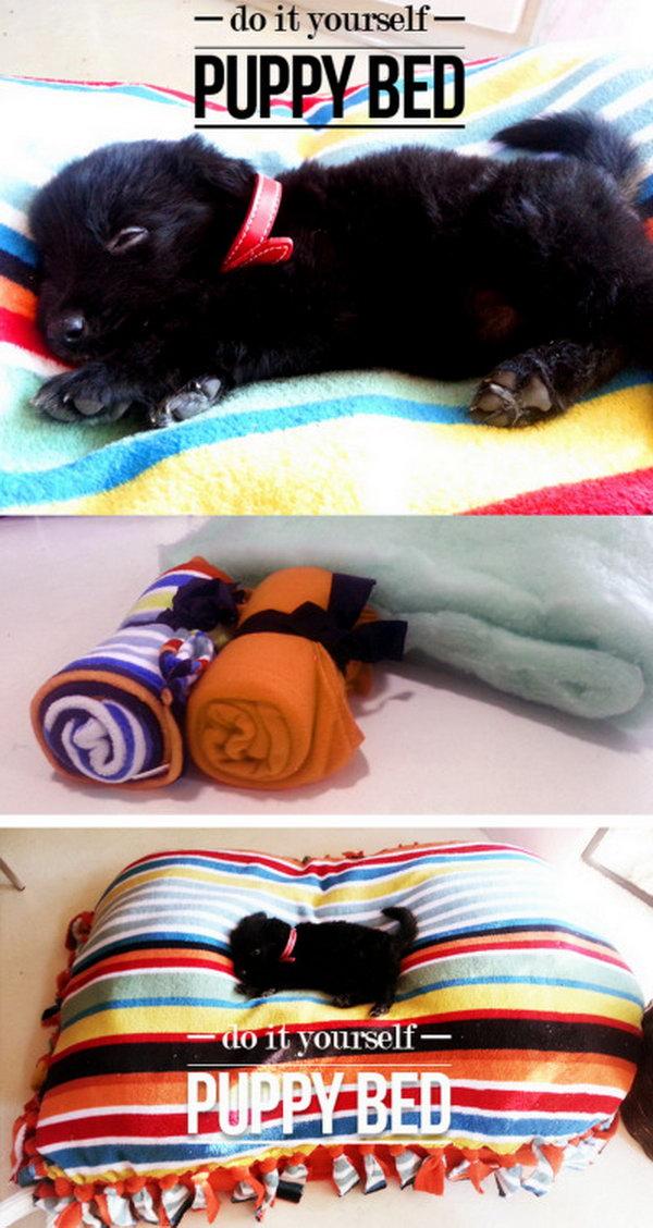 2 Super Easy DIY Rainbow Pet Bed