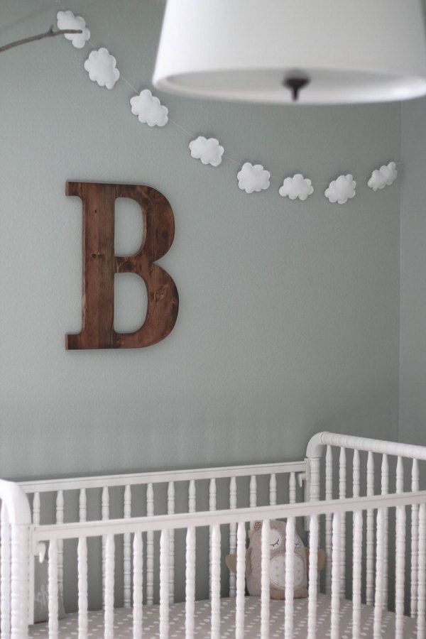 20  DIY Cloud Garland for a Baby Room
