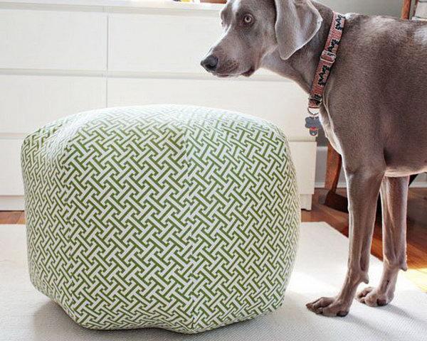 20 DIY Fabric Ottoman