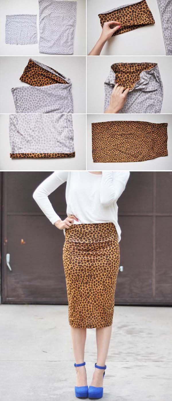 21 DIY Stretchy Pencil Skirt