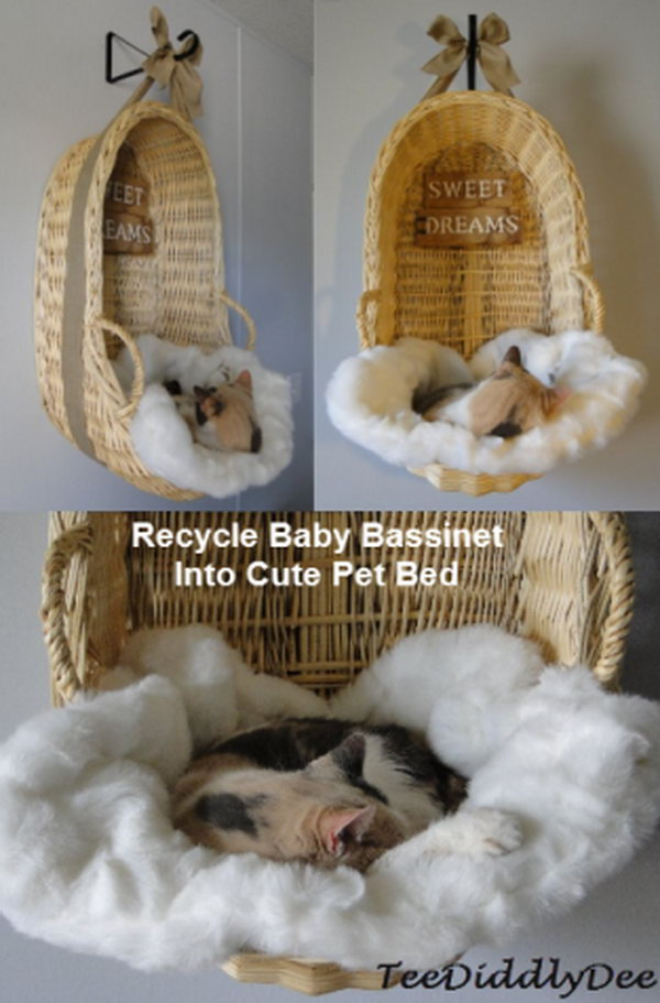 21 Recycle Baby Cradle Into Cute Pet Bed