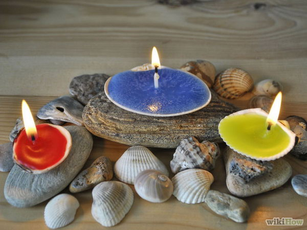 22 Shell Candle Holder