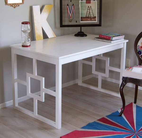 23 Chic Modern Desk Hacked from Ikea Unfinished Table