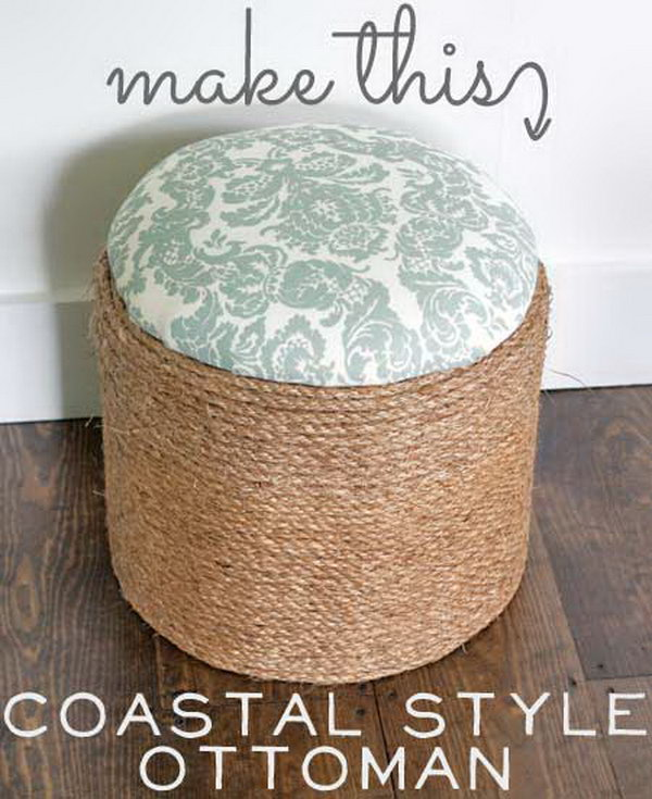 Fabulous 30 Diy Ottoman Floor Pouf Projects Awesome Tutorials Machost Co Dining Chair Design Ideas Machostcouk