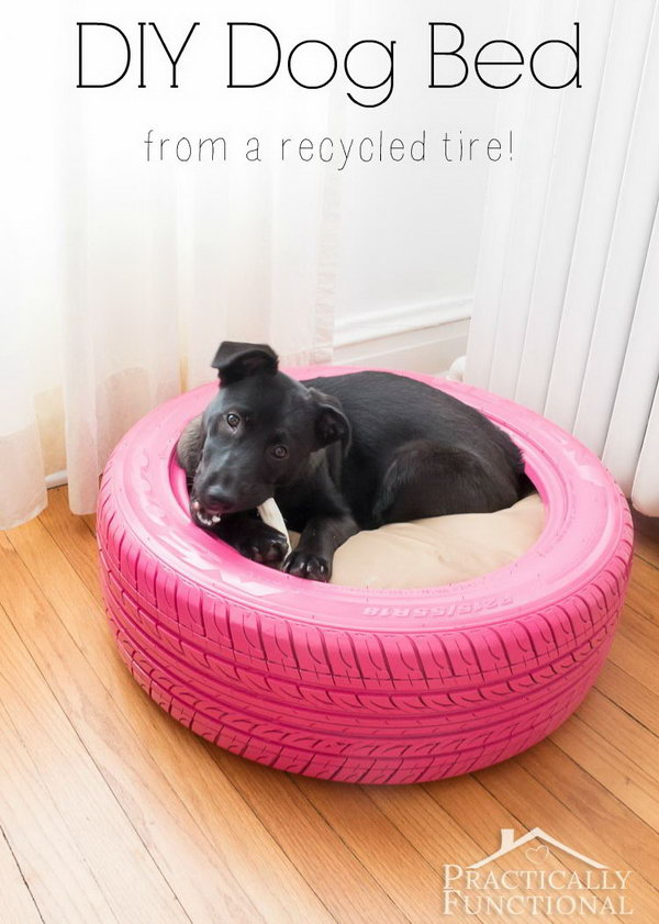 23 DIY Dog Bed From A Recycled Tire