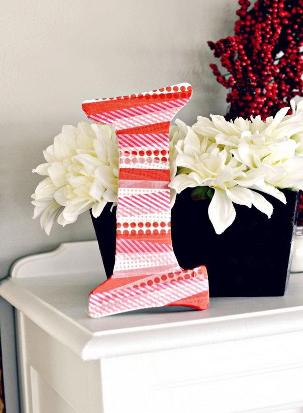 23 DIY Washi Tape Letter