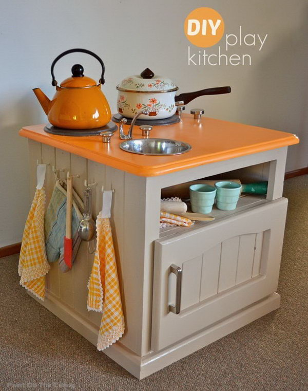 24 DIY Modern Play Kitchen