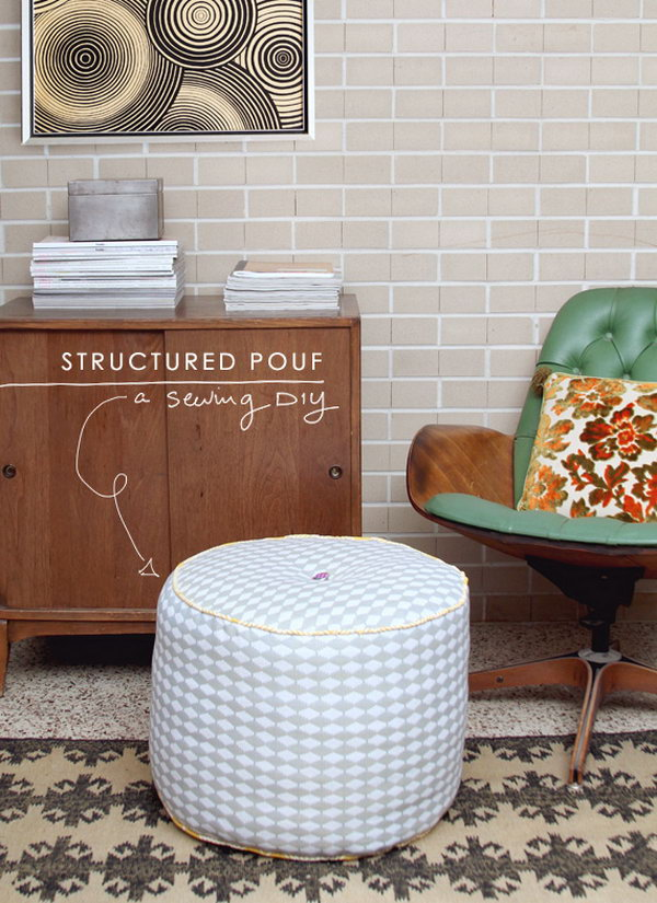 24 DIY Structured Pouf
