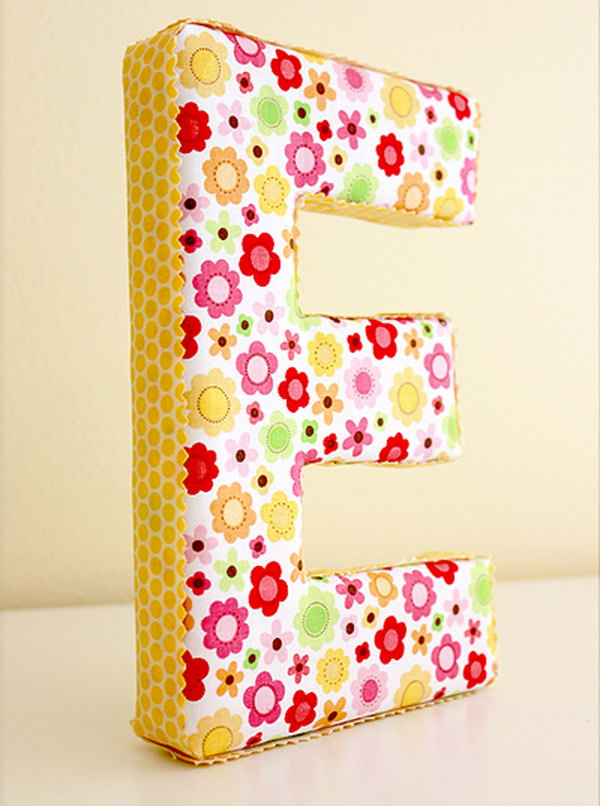 24 Fabric Covered Letter