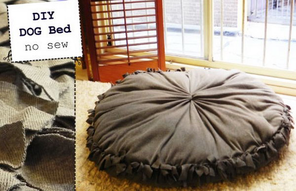 24 Super Easy No Sew Dog Bed