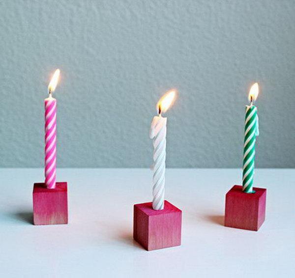 25 Block Birthday Candle