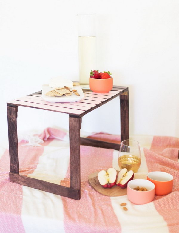 25 DIY Mini Picnic Tables
