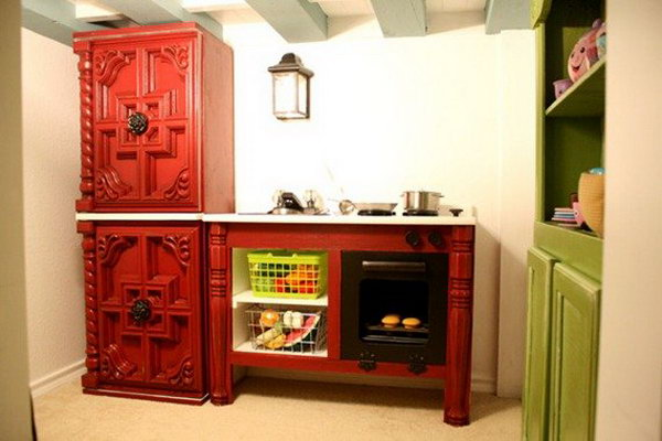 25 Fancy Cottage Play Kitchen