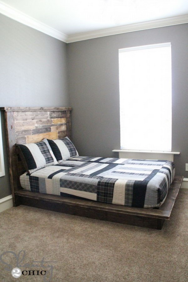 26 Bold and Chunky Platform Bed Frame