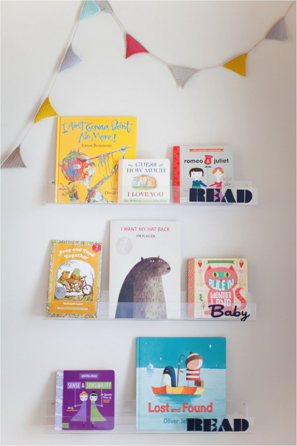 26 Clear Shelves for Storybooks