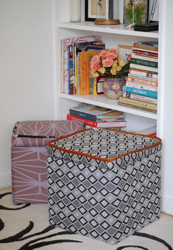 26 DIY Custom Storage Ottoman
