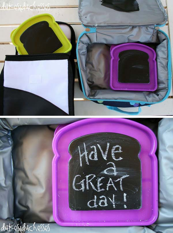 27 Chalkboard Paint Lunchbox