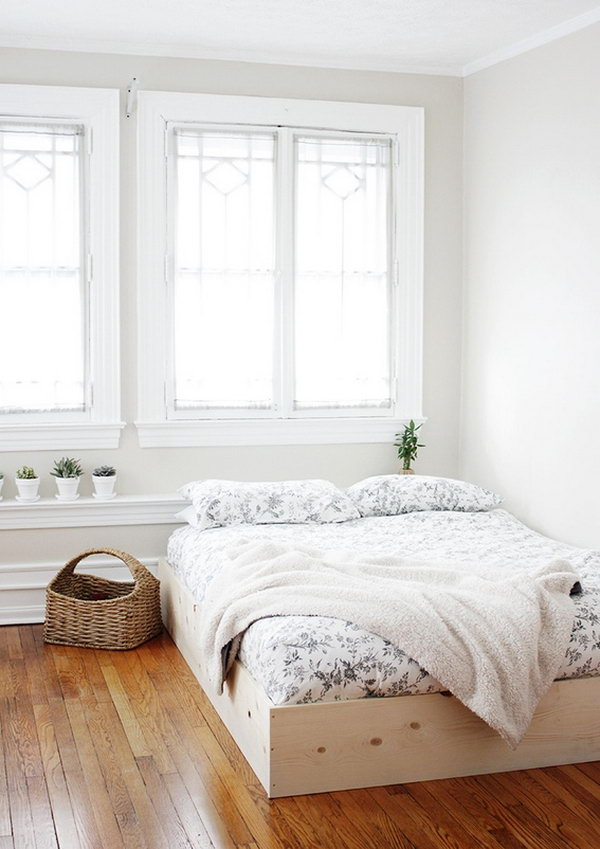 27 Simple and Inexpensive DIY Bed Frame