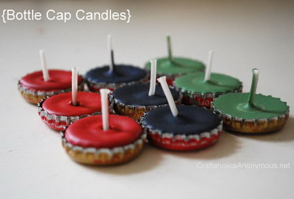 29 Bottle Cap Candle Holder