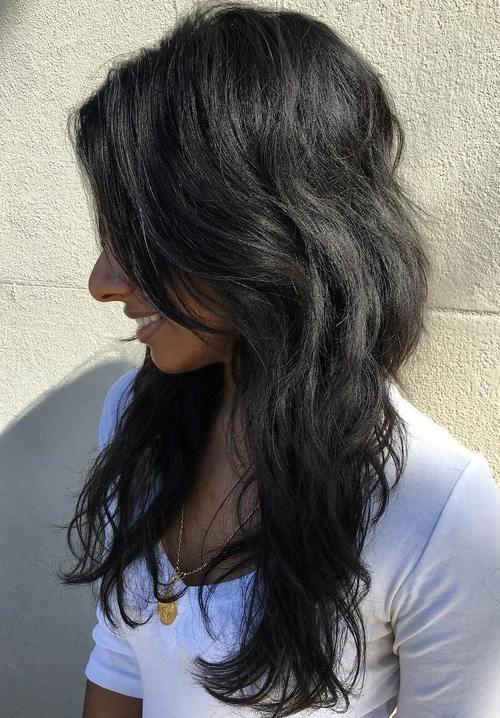 29 layered haircut for long black hair