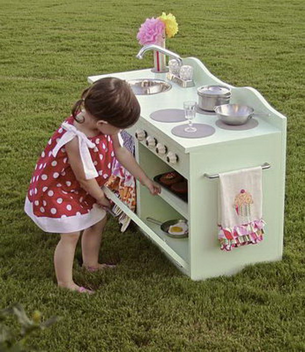 3 DIY Beautiful Play Kitchen for Little Girls