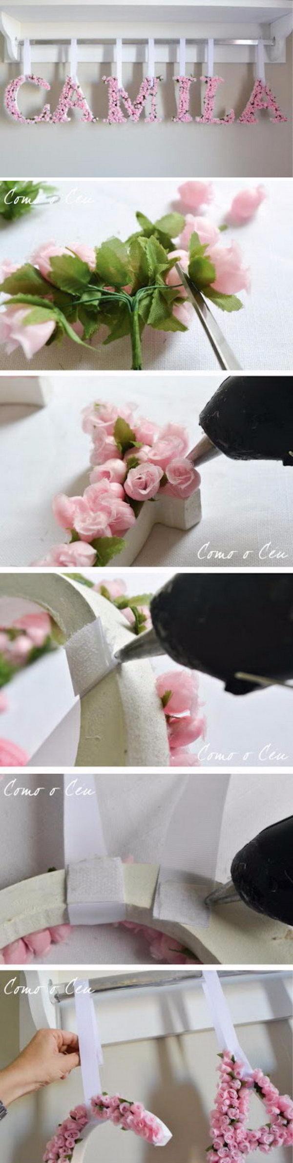 3 DIY Flower Letters