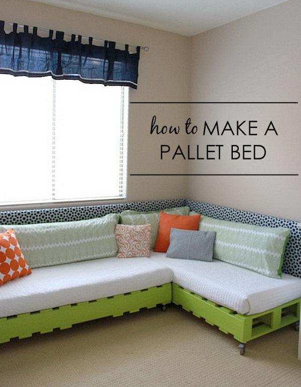 3 DIY Kid's Pallet Bed Frame