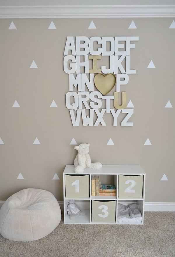 3 DIY Paper Mache Alphabet Wall