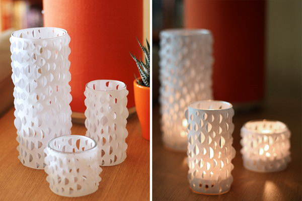 30 Cut Paper Candle Holders