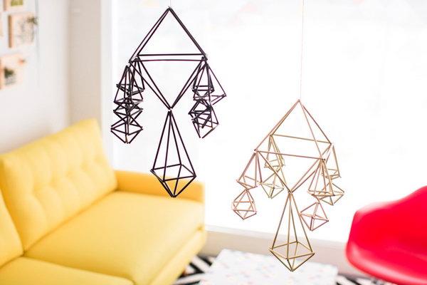 30 DIY Modern Geometric Mobiles