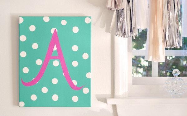 31 DIY Baby Monogram