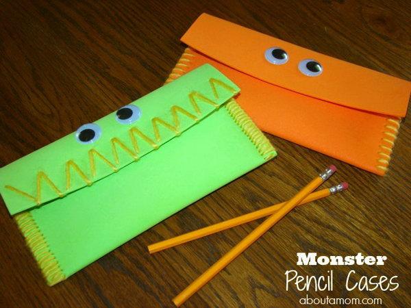 32 DIY Monster Pencil Cases
