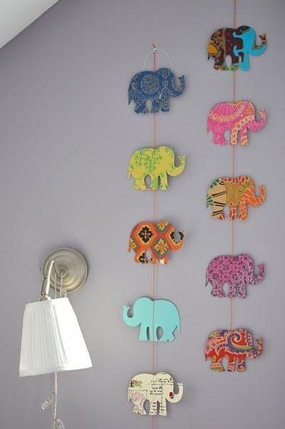 33 DIY Elephant Garland for Nursery