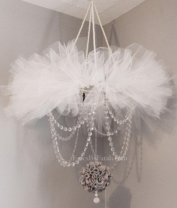 36 Elegant Tutu Chandelier for Baby Girl's Nursery