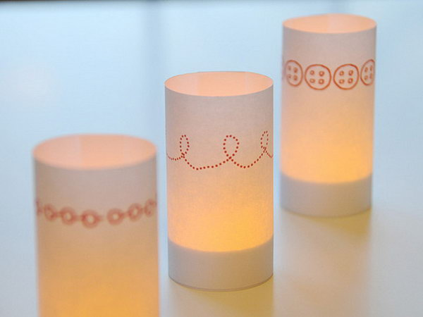 36 Paper Candle Wraps