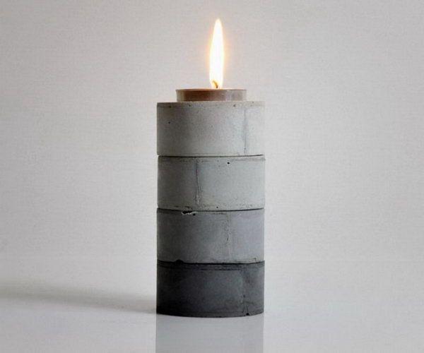 37 DIY Stackable Gradient Candle Holders