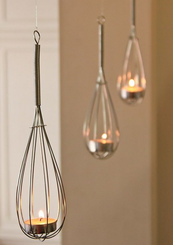 38 Wire Whisk Candle Holders