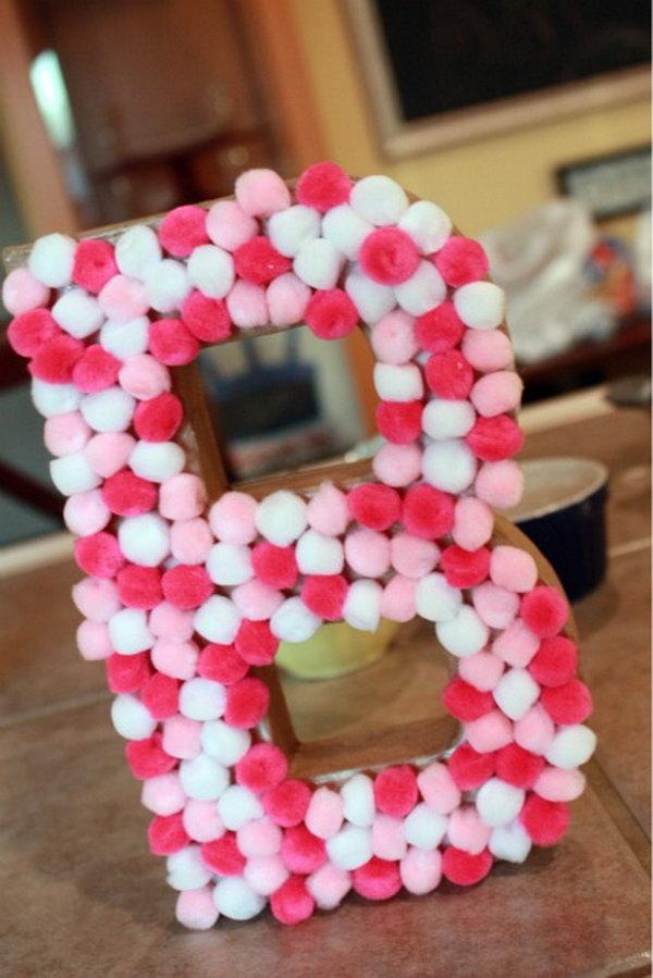 4 DIY Pom Pom Letter