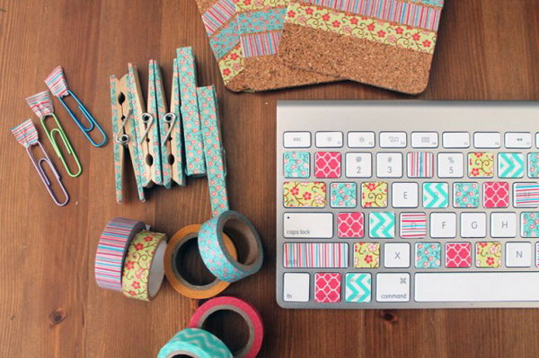 4 Washi Tape Workspace Makeover