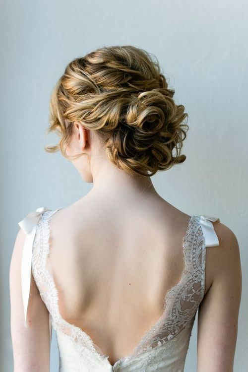 4 lacy medium length wedding updo hairstyle with fabulous texture