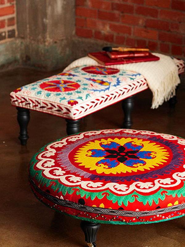 5 Colorful DIY Ottoman