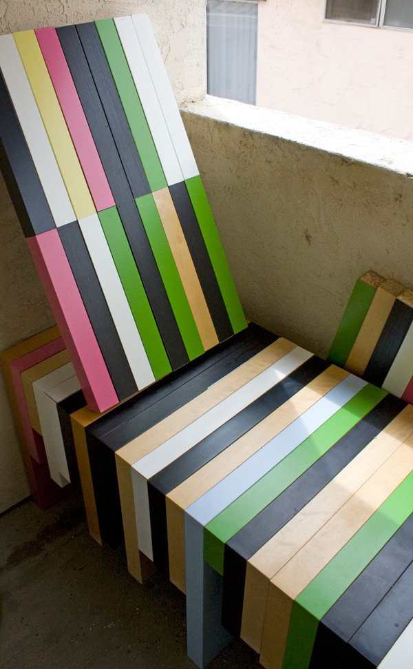 5 Cut and Remade Ikea Lack Table into a Lounge Chair