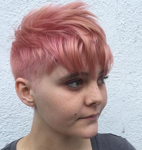5 choppy pastel pink pixie