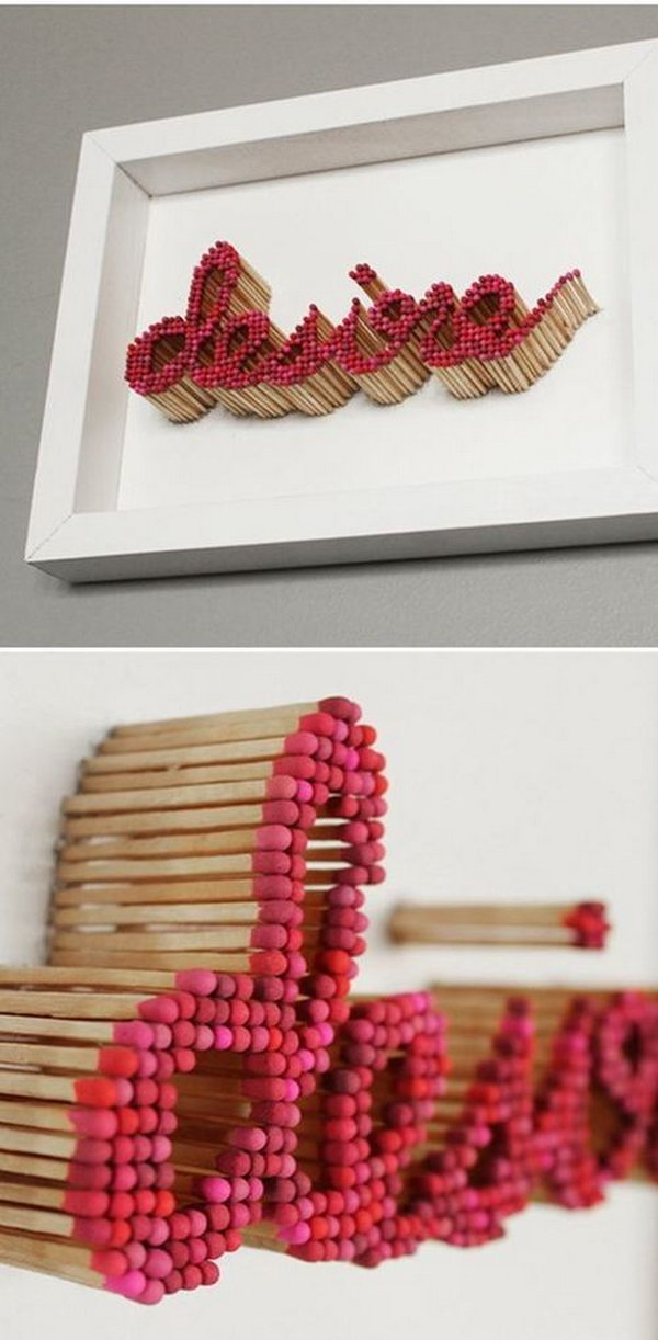 6 Decorative Letters Using Matches