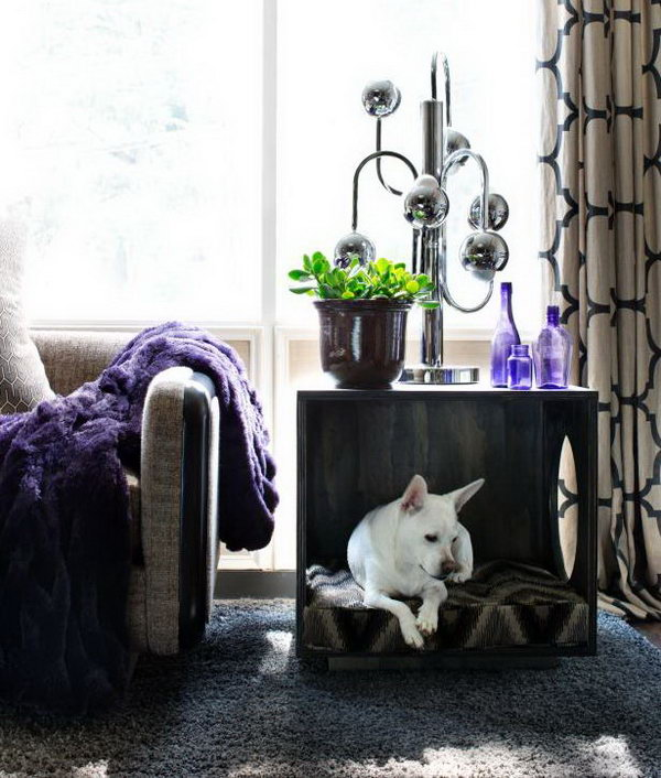 6 Make a Three-Sided Cube Pet Bed and Occasional Table