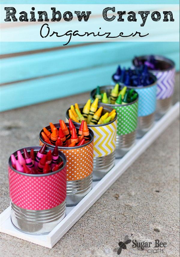 6 Rainbow Crayon Holder