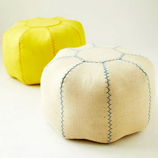 6 Sewing Floor Pouf