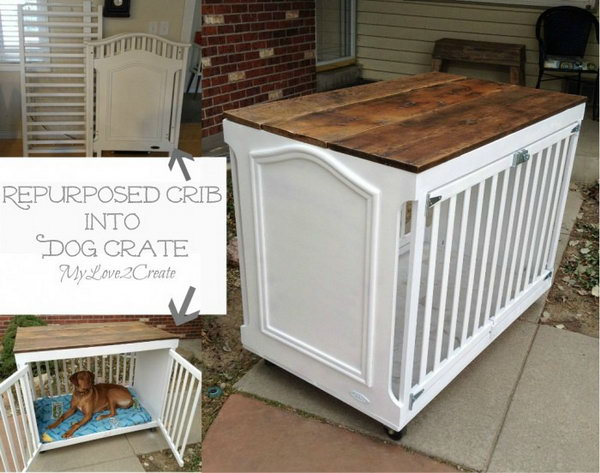6 Turn an Old Crib into a Dog Crate