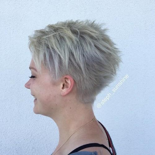 6 ash blonde choppy pixie